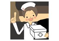 ポイントを述べる看護師